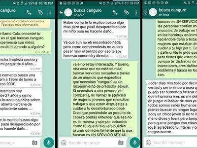 Esta chica estaba buscando trabajo de canguro y se encontró con una oferta sexual en su Whatsapp