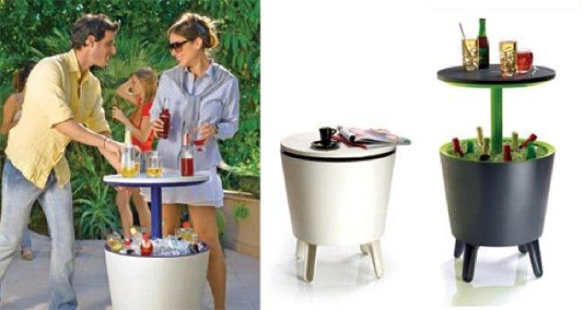 Mesa auxiliar y mueble bar de exterior dos en uno for Mueble bar exterior