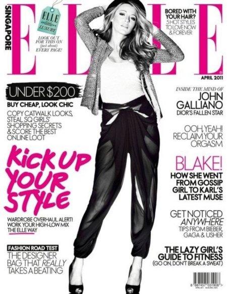 Sexy girl!: Blake Lively brilla en Elle Singapur