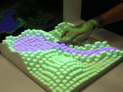 Esta interfaz física en 3D es capaz de imitar materiales sólidos y hasta líquidos