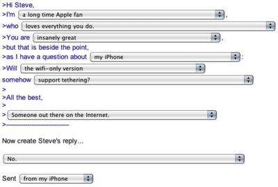 Imagen de la semana: el generador de correos de Steve Jobs