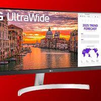 Trabajar en monitor ultrawide sale más barato con el LG 29WN600-W. El Corte Inglés te lo deja en 199 euros
