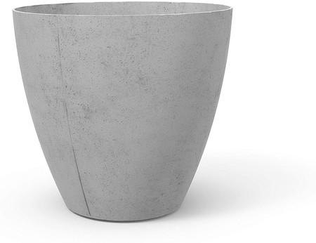 maceta grande gris