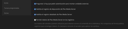 Registro detallado en Plex