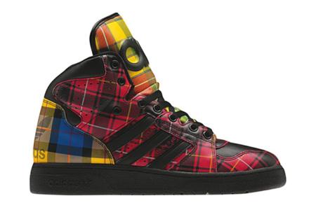 Zapatillas Adidas Instinct Hi Tartan de Jeremy Scott