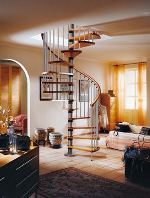 La escalera de caracol: una ayuda para decorar