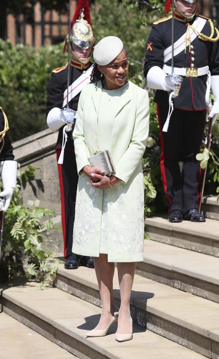 Madre De Meghan Markle Vestido Verde