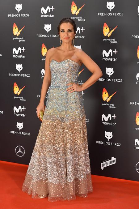 Paula Echevarría apuesta por lo seguro con su look para los Premios Feroz