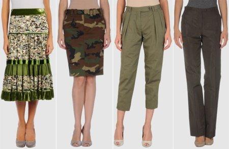 Faldas marca militar