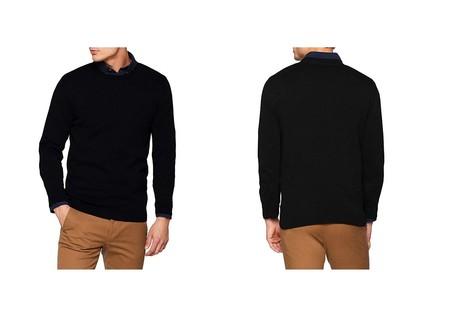 Por 14,90 euros podemos hacernos con este  suéter para hombre Jack & Jones Jjebasic Knit Crew Neck Noos en negro gracias a Amazon