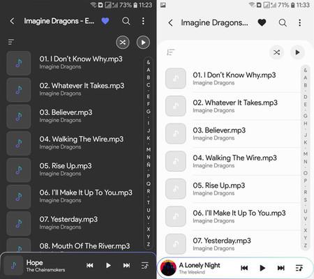 Samsung Music cambia su diseño de nuevo, con One UI, y lo puedes