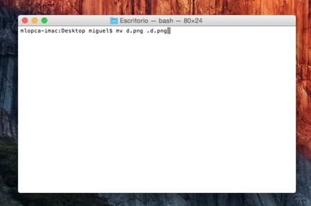 ¿Quieres esconder un archivo en OS X? Ponle un punto delante con el terminal