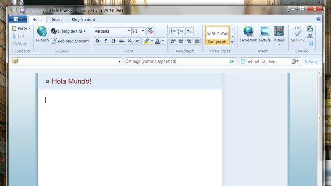 La Ribbon-manía llega a Windows Live Writer
