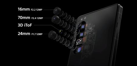 Las cuatro cámaras traseras del Sony Xperia 1 II