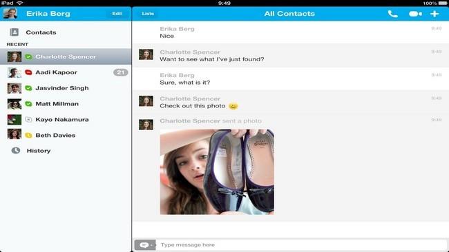 Skype ipad 4.1