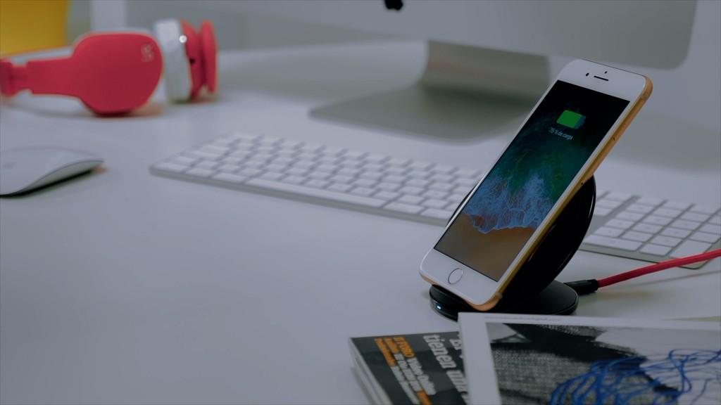 iPhone ocho Plus carga inalámbrica