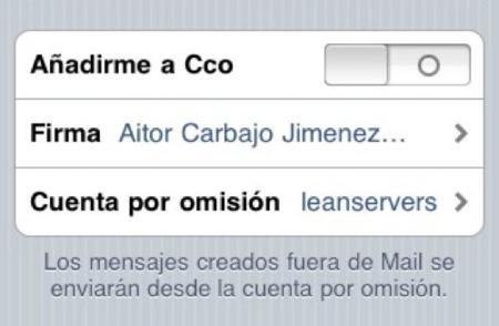 Consigue definir varias firmas para la aplicación Mail del iPhone