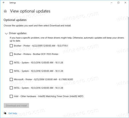 Windows 10 Optional Updates 3