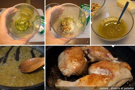 Pollo al pesto - elaboración