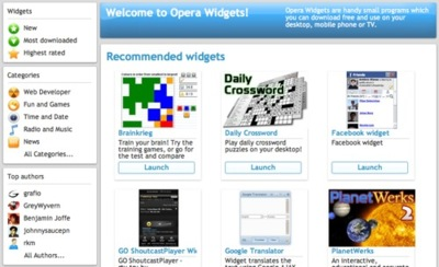 Opera Widgets for desktop, los widgets saltan al escritorio