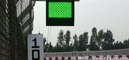 La electrónica podría sustituir a las banderas en la F1