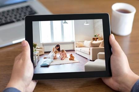 vista de la cámara de Creative desde un tablet