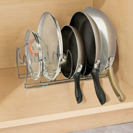 Holder for pans, lids and saucepans