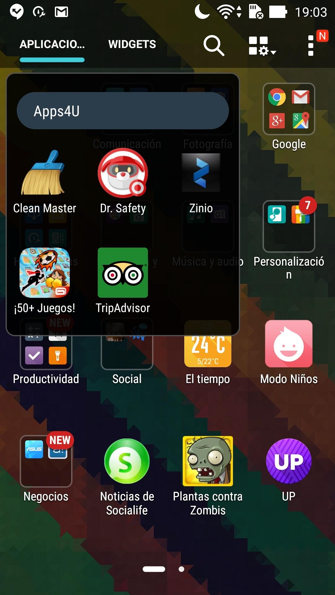 ASUS ZenPhone 2 interfaz