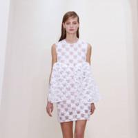 Vestido blanco en forma de lazo Christian Dior Alta Costura Primavera-Verano 2014
