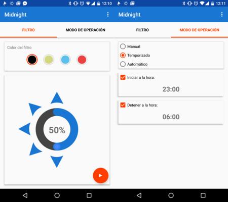 Midnight: un app de filtros para reducir el brillo de la pantalla y evitar la fatiga visual