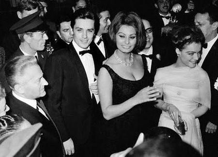 Alain Delon y Sofia Loren