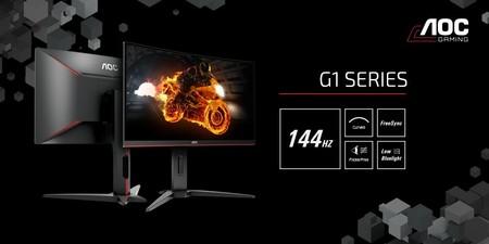 AOC renueva su gama media de monitores gaming con tres nuevos modelos curvos Full-HD