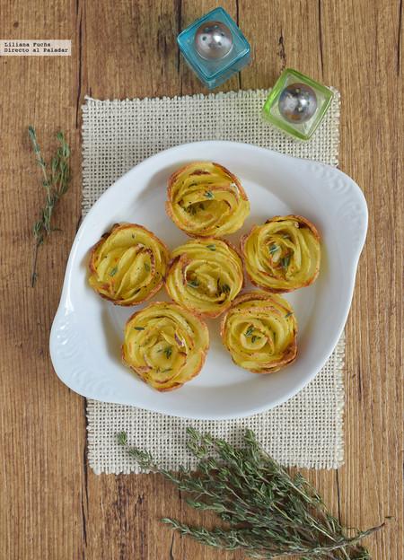 rosas de patata al horno