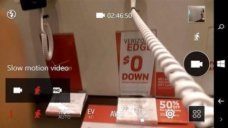 La cámara del HTC One M8 para Windows es capaz de grabar vídeo a 60fps y en cámara lenta a 1080p