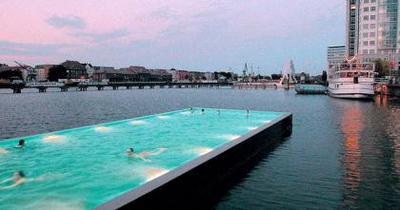 Piscinas flotantes en Berlin y Viena