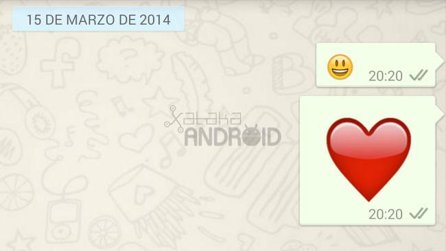 WhatsApp para Android comienza a aadir emojis animados
