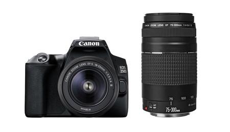 Canon Eos 250d Con 18 55 Y 70 300