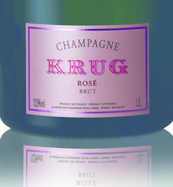 Krug Rosé Magnum etiqueta