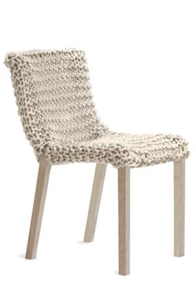 La Granny Chair: una silla con efecto tricotado