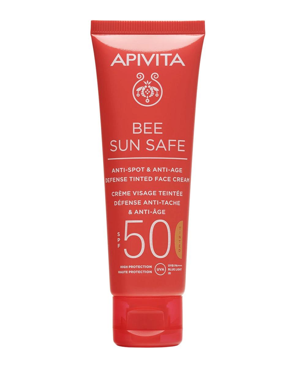 Crema Antiedad & Antimanchas SPF50 con Color Apivita