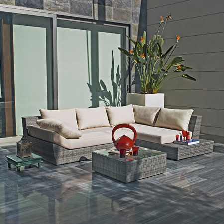 Plan estar en la terraza: tendencias para sofás en el exterior