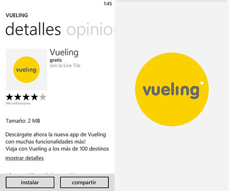 Vueling Windows