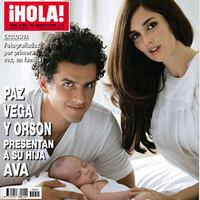 Paz Vega y Orson Salazar presentan a su hija en ¡Hola!