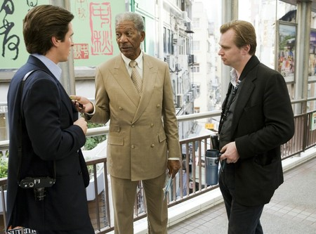 Christian Bale, Morgan Freeman y Nolan