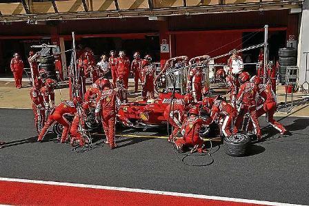 Ferrari se quedó sola en el Circuit de Catalunya