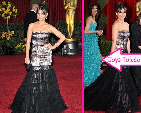 Mónica Cruz y Goya Toledo acompañaron a Pe en los Oscars