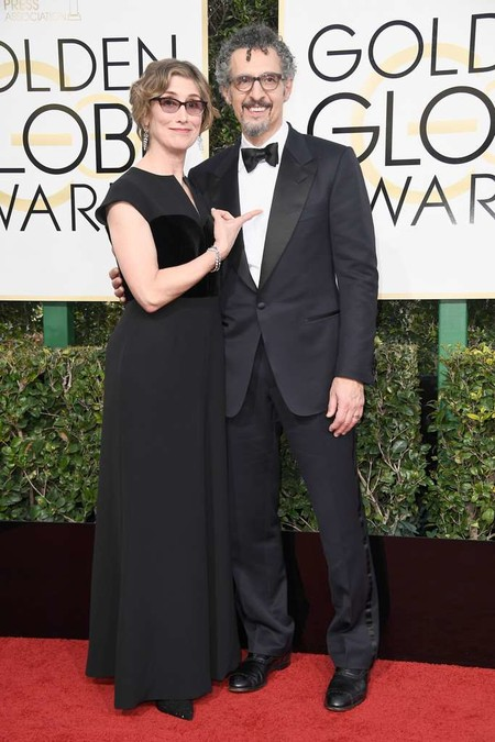 Katherine Borowitz And John Turturro Golden Globes Awards 2017 Red Carpet