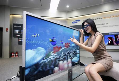 Samsung muestra un televisor de 55 pulgadas preparado para las 3D