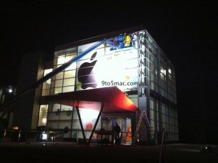 Primeras imágenes del Yerba Buena Center con la decoración del evento de Apple