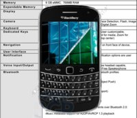 BlackBerry Bold Touch Dakota 9900, especificaciones técnicas completas